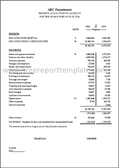 Income Statement / P&L Statement Template – Free Report Templates