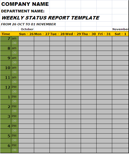 Weekly Status Report Template Of Employee Free Report Templates .