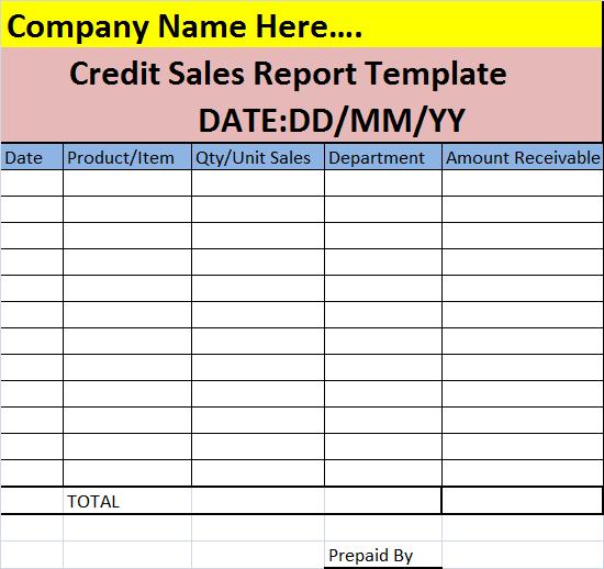 credit-sales-report