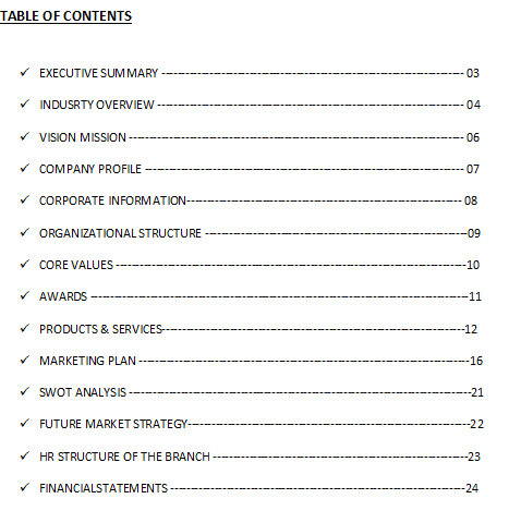 Research Report Table of Contents Design – Free Report Templates