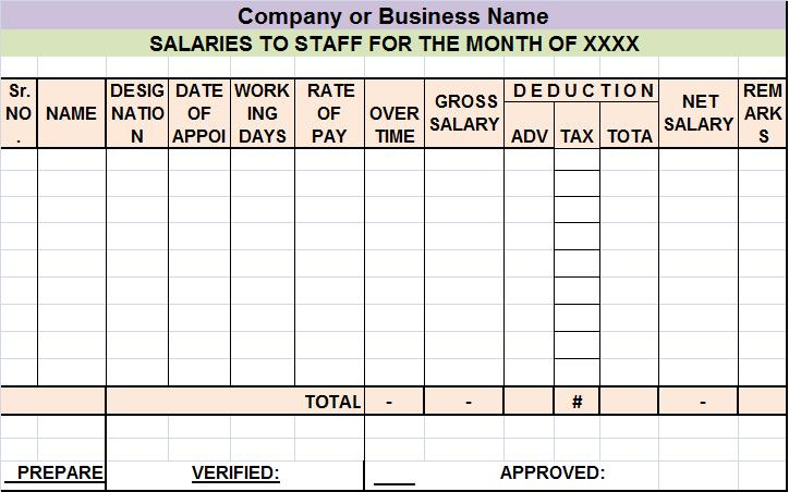 salary sheet report template  u2013 free report templates