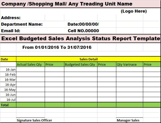 budget analysis sales