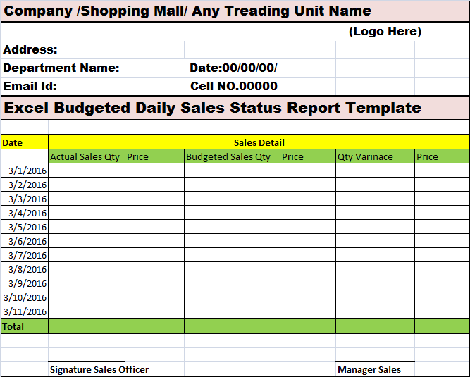 sales status report template - Hizir kaptanband co