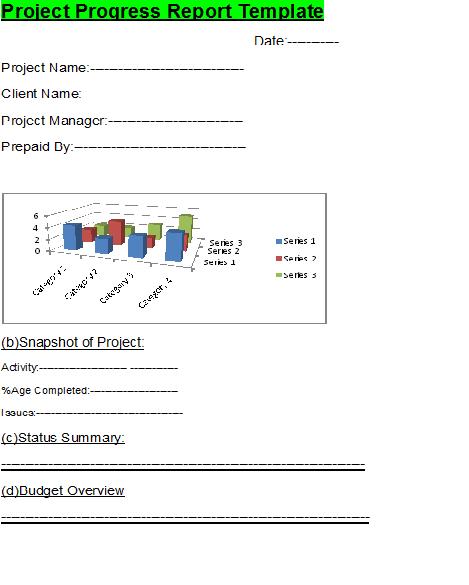 Project Progress Template from www.freereporttemplate.com