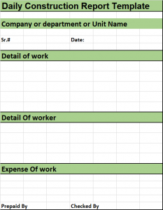 Construction Daily Report Template Excel from www.freereporttemplate.com